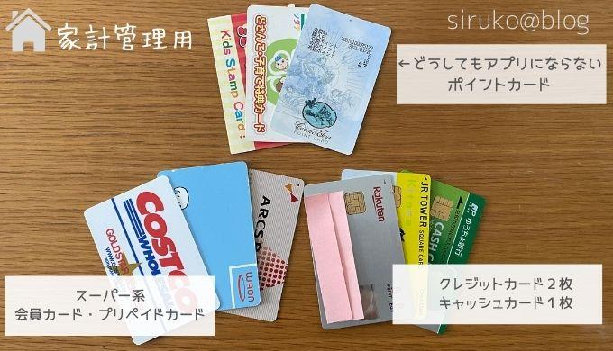 家計管理用カード
